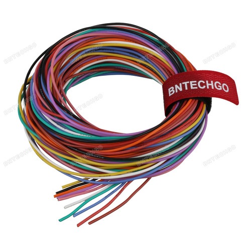 24 Gauge Silicone Wire Kit Ultra Flexible 10 Color High Resistant 200 deg C