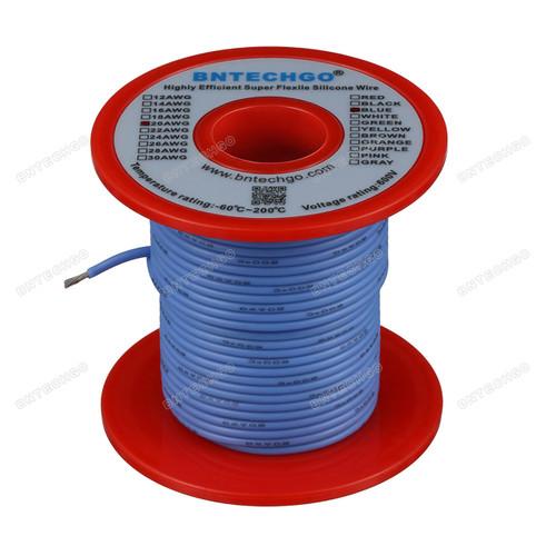 20 Gauge Silicone Wire Spool Blue 100 feet Ultra Flexible