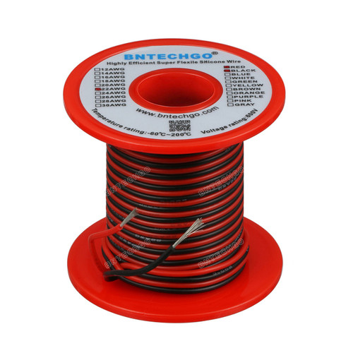 22 Gauge Silicone Wire Spool 100 feet Ultra Flexible
