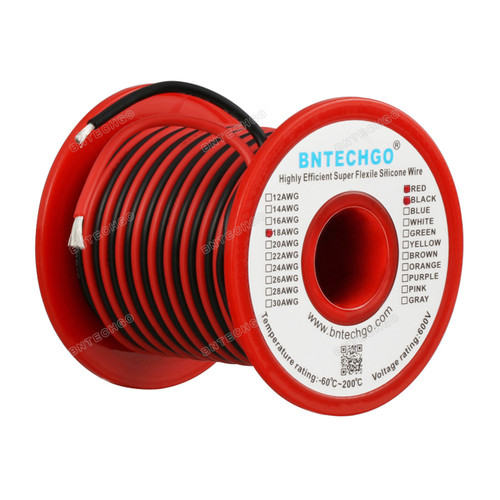 18 Gauge Silicone Wire Spool 50 feet Ultra Flexible