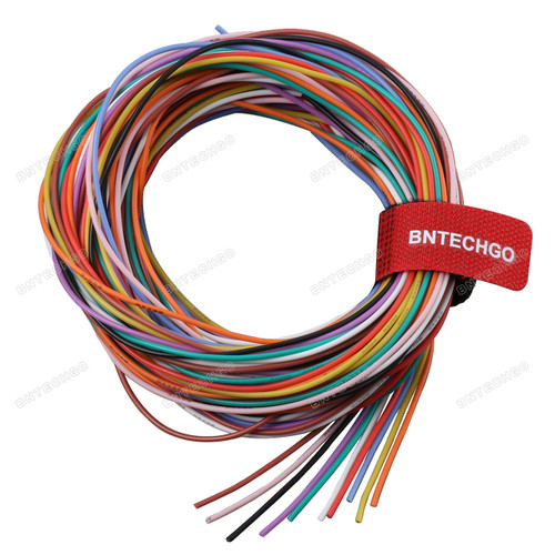 26 Gauge Wire >> Bntechgo 26 Gauge Silicone Wire Kit Ultra Flexible 10 Color High Resistant 200 Deg C 600v Silicone Rubber Insulation 26 Awg Silicone Wire 30 Strands