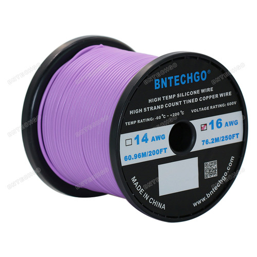 16 Gauge Silicone Wire Spool Purple 250 feet Ultra Flexible