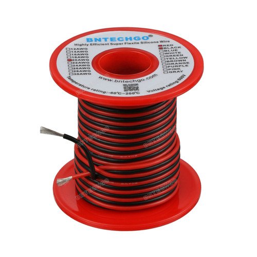 20 Gauge Silicone Wire Spool 100 feet Ultra Flexible