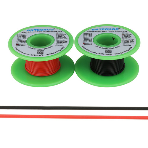 28 AWG Silicone Wire Spool 200 feet Ultra Flexible High Temp 200 deg C