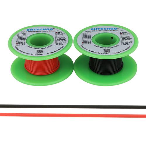 28 AWG Silicone Wire Spool 200 feet Ultra Flexible High Temp 200 deg C