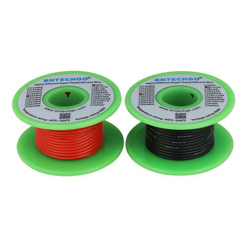 20 AWG Silicone Wire Spool 50 feet Ultra Flexible High Temp 200 deg C