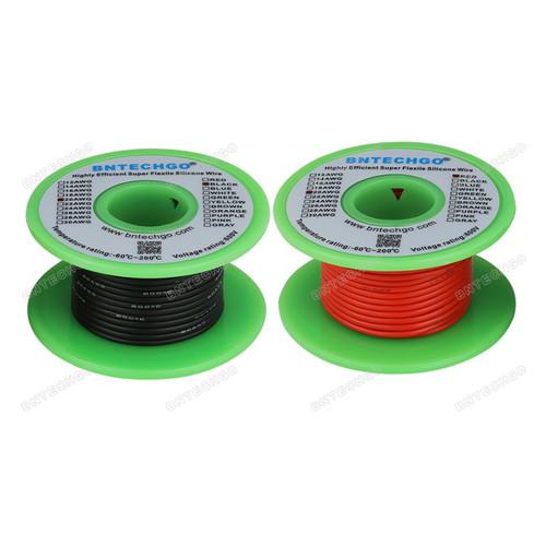 20 AWG Silicone Wire Spool 100 feet Ultra Flexible High Temp 200 deg C
