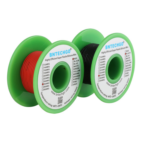 26 AWG Silicone Wire Spool 100 feet Ultra Flexible High Temp 200 deg C