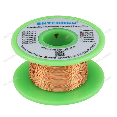 "BNTECHGO 32 AWG Magnet Wire - 4 oz - 0.0078""Diameter 1 Spool Coil Natural Widely Used for Transformers Inductors"