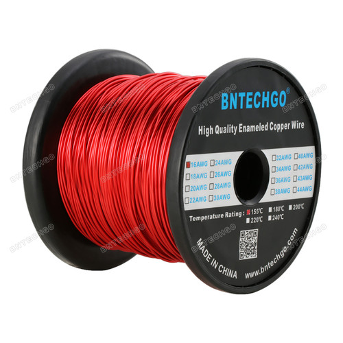 "BNTECHGO 16 AWG Magnet Wire - Enameled Copper Wire- 5.0 lb - 0.0492"" Diameter 1 Spool Coil"