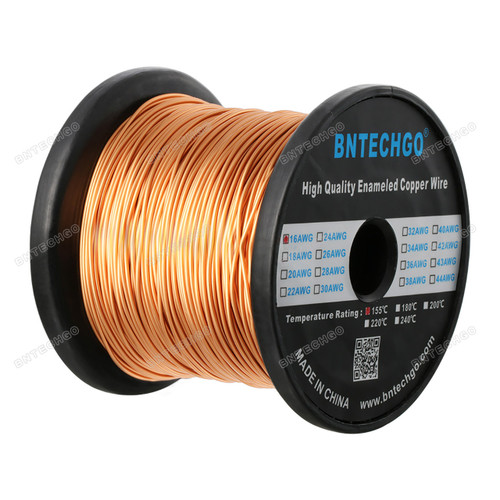 "BNTECHGO 16 AWG Magnet Wire - Enameled Magnet Winding Wire - 5.0 lb - 0.0492"" Diameter 1 Spool Coil Natural"
