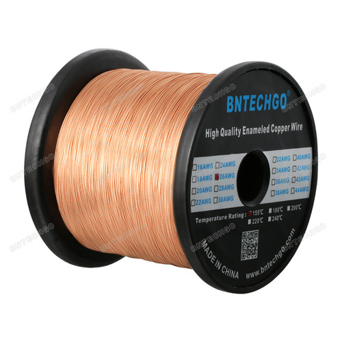 "BNTECHGO 26 AWG Magnet Wire -  5.0 lb - 0.0157"" Diameter 1 Spool Coil Natural"