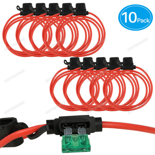 Package Included: 10 x 12AWG ATC/ATO Inline Fuse Holder
