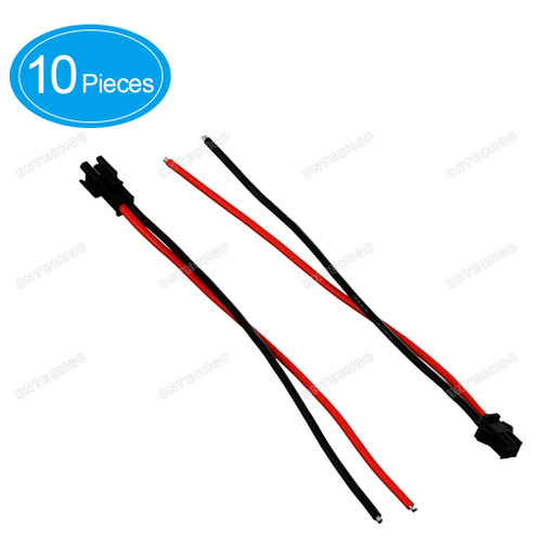 BNTECHGO JST SM 2 Pin Plug Male and Female Connector Adapter with 15 cm Flexible 18 AWG Silicone Wire Cable 10 Pieces