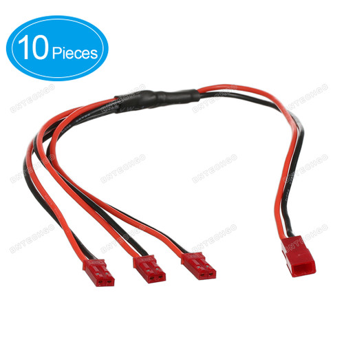 BNTECHGO JST Splitter with 30cm Leads Connector 1 Female to 3 Male Connector RCY Plug Cable 10 Pieces