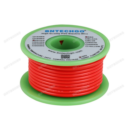 BNTECHGO 20 AWG 1007 Electric wire Red 25 ft Per Reel For DIY