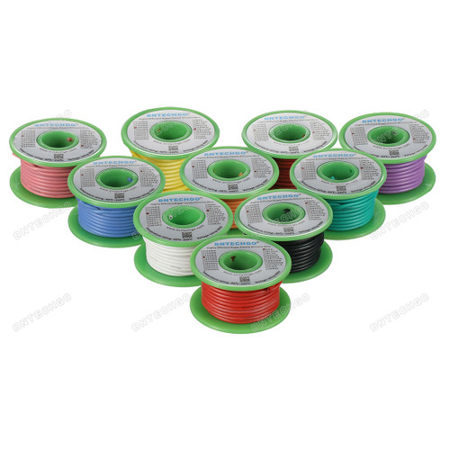 18 Gauge Silicone Wire Kit 10 Color Each 25 ft