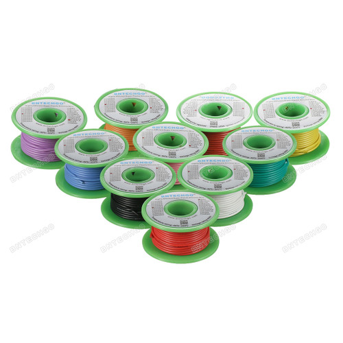 20 Gauge Silicone Wire Kit 10 Color Each 30 ft