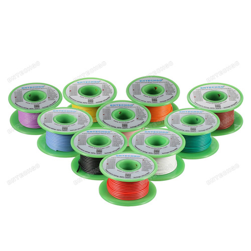 22 Gauge Silicone Wire Kit 10 Color Each 30 ft
