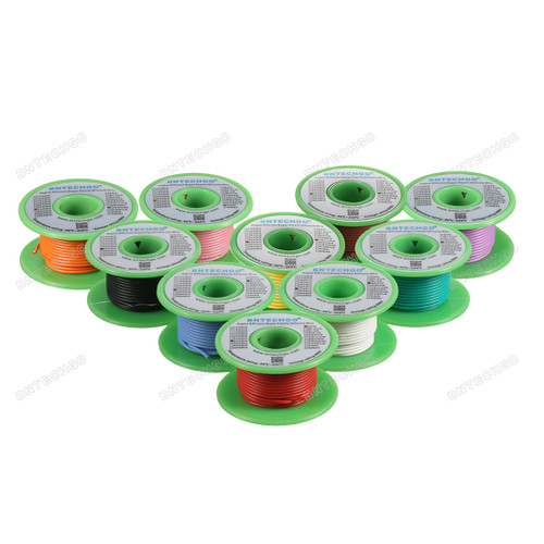 24 Gauge Silicone Wire Kit 10 Color Each 30 ft