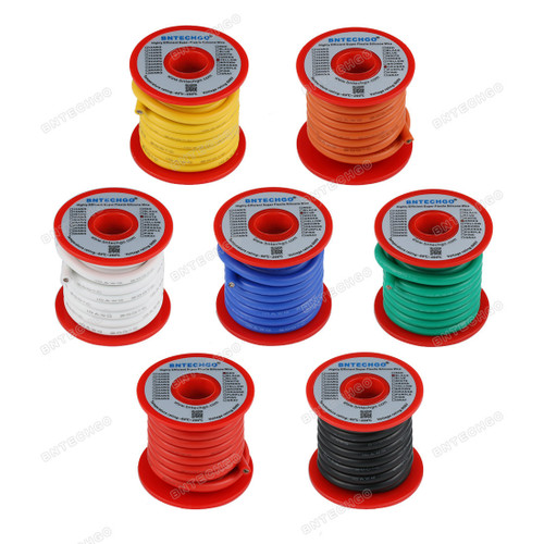 BNTECHGO 10 Gauge Silicone Wire Kit 7 Color Each 10 ft Flexible
