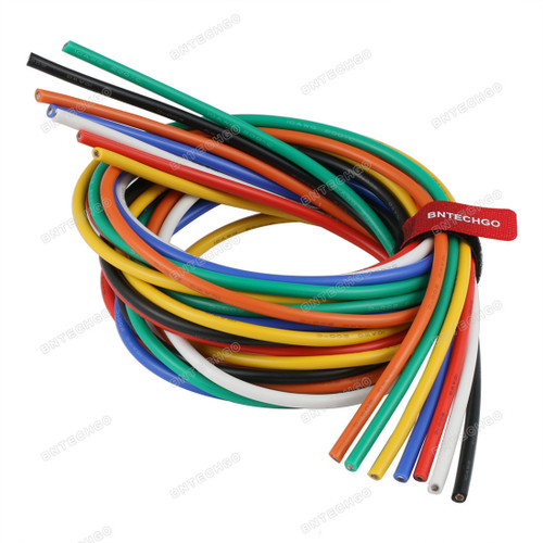 10 Gauge Silicone Wire Kit 7 Color Each 5 ft Flexible 10 AWG