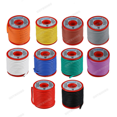12 Gauge Silicone Wire Kit Ultra Flexible 10 Color High