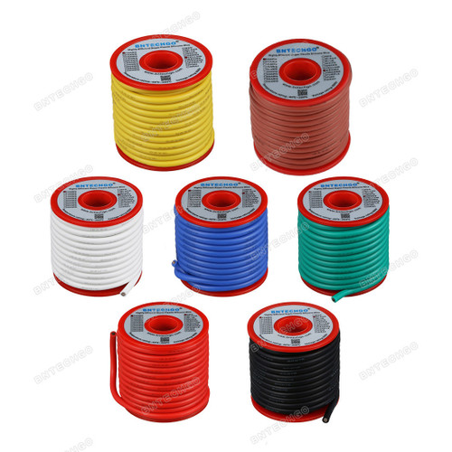 12 Gauge Silicone Wire Kit 7 Color Each 25 ft Flexible 12 AWG