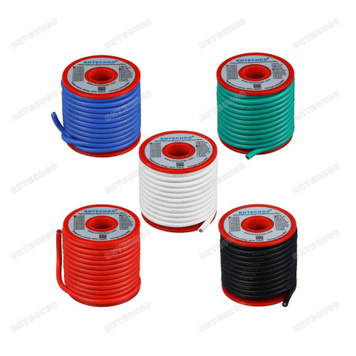 12 Gauge Silicone Wire Kit 5 Color Each 25 ft