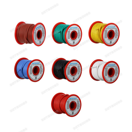 14 Gauge Silicone Wire Kit 7 Color Each 25 ft
