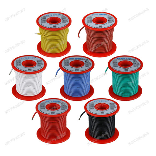 18 Gauge Silicone Wire Kit 7 Color Each 100 ft