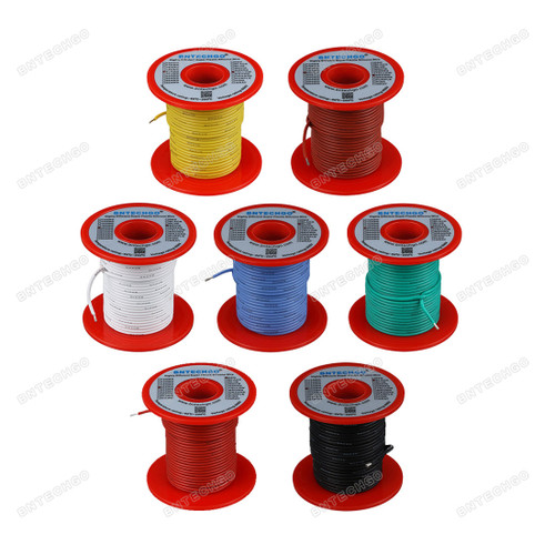 20 Gauge Silicone Wire Kit 7 Color Each 100 ft