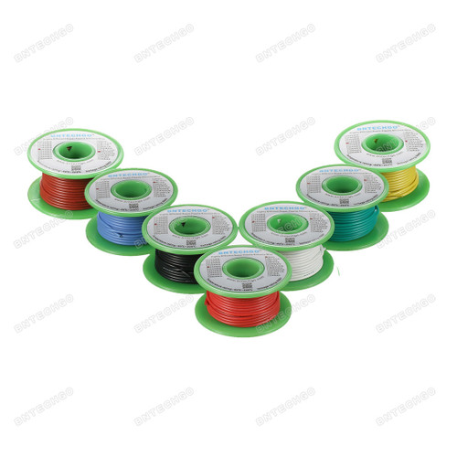 20 Gauge Silicone Wire Kit 7 Color Each 25 ft