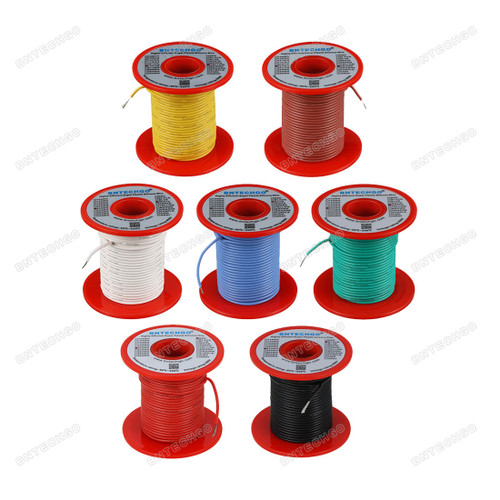 22 Gauge Silicone Wire Kit 7 Color Each 100 ft
