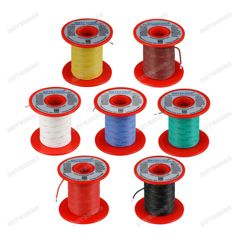 24 Gauge Silicone Wire Kit 7 Color Each 100 ft