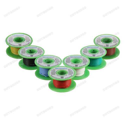 24 Gauge Silicone Wire Kit 7 Color Each 25 ft