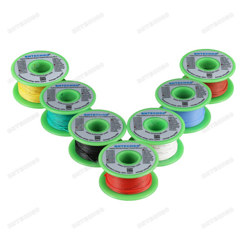 26 Gauge Silicone Wire Kit 7 Color Each 100 ft