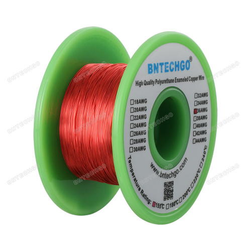 36 Gauge Enameled Magnet Wire is made of high quality copper