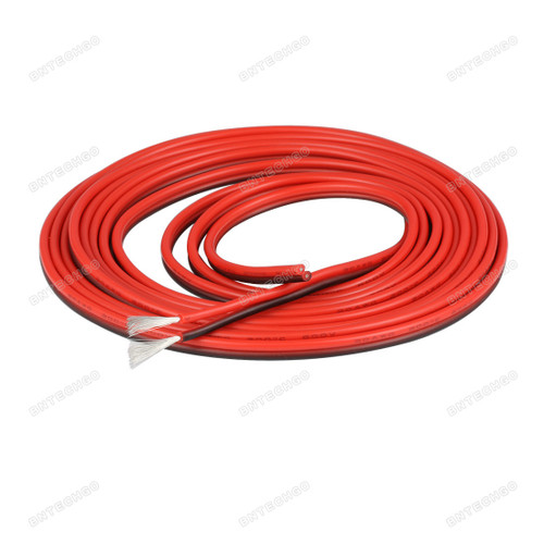 BNTECHGO 20 Gauge Flexible 2 Conductor Parallel Silicone Wire Spool Red Black High Resistant 200 deg C 600V for Single Color LED Strip Extension Cable Cord,model,lead wire 10ft Stranded Copper Wire