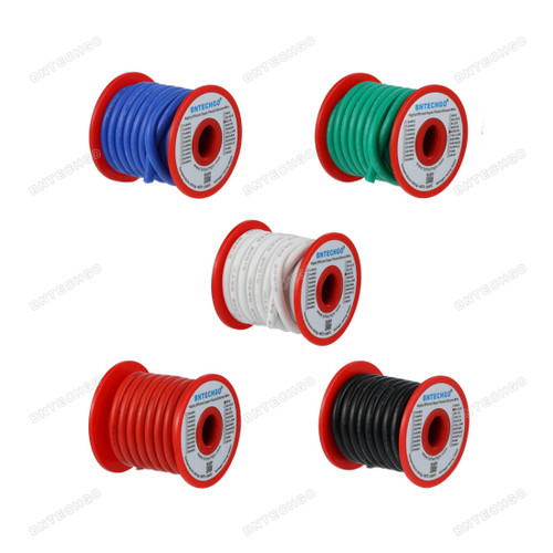 BNTECHGO 10 Gauge Silicone Wire Kit 5 Color Each 10 ft Flexible 10 AWG Stranded Tinned Copper Wire