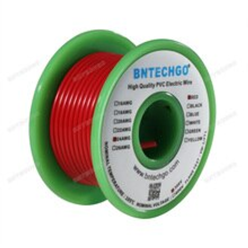 BNTECHGO 24 AWG 1007 Electric Wire 24 Gauge PVC 1007 Wire Solid Wire Hook Up Wire