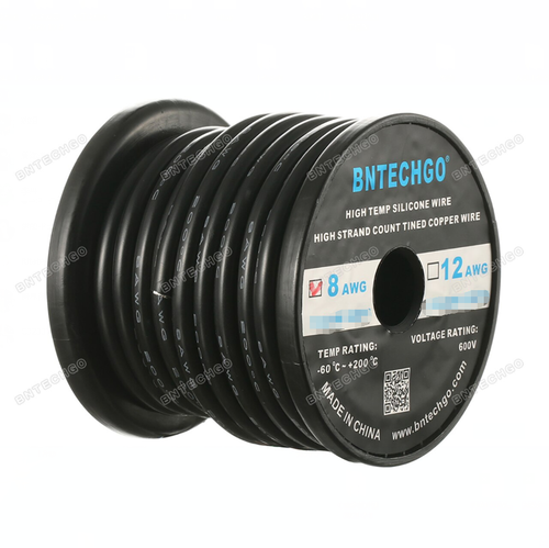 8 AWG Silicone Wire Black 1 Feet wholesale