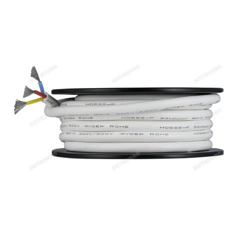 BNTECHGO Ultra Flexible 1.0mm² 3 Conductors Silicone Tinned Copper Wire Spool White 50ft
