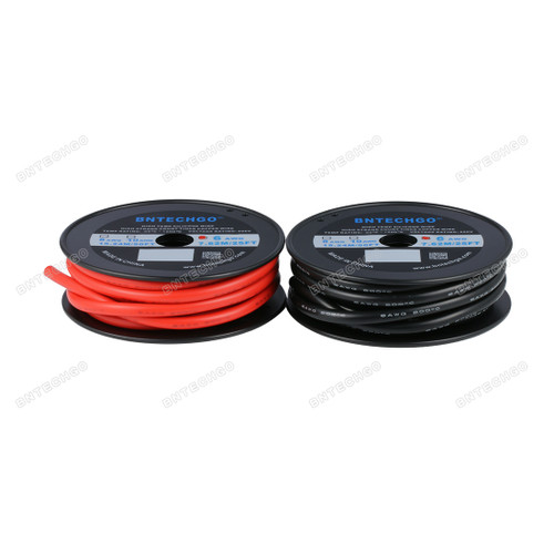 BNTECHGO 6 Gauge Silicone Wire 25 Feet Red and 25 Feet Black Tinned Copper Wire
