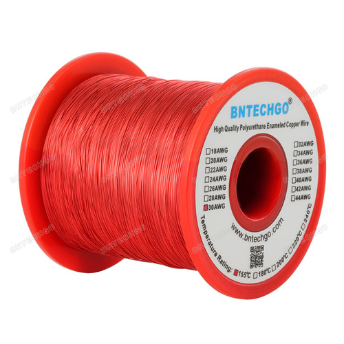 30 Gauge Enameled Magnet Wire is made of high quality copper and good coating with enamel