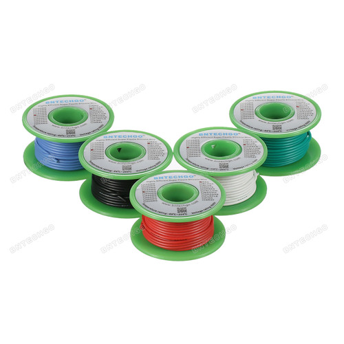 Ultra Flexible 20 Gauge Silicone Wire Spool 5 Color Red Black White Blue Green