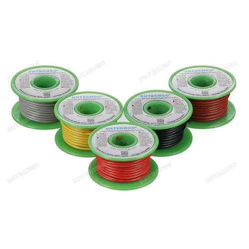 Ultra Flexible 18 Gauge Silicone Wire Spool 5 Color Red Black Yellow Brown Gray