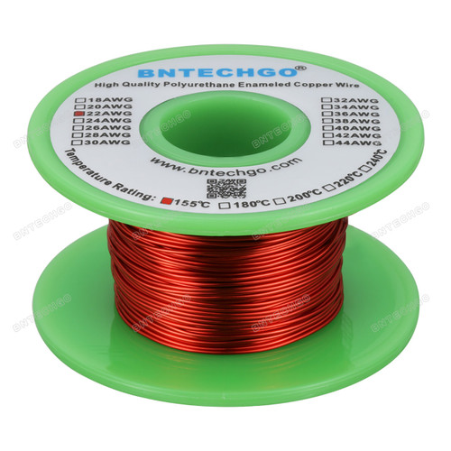22 Gauge Enameled Magnet Wire is made of high quality copper