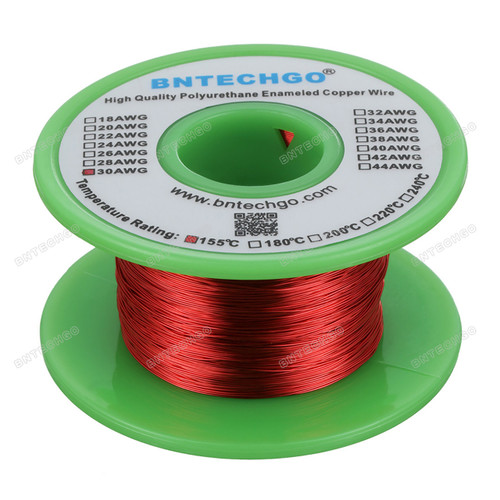30 Gauge Enameled Magnet Wire is made of high quality copper