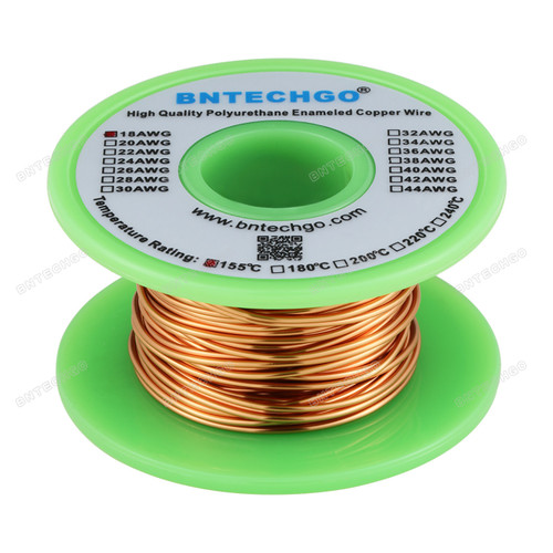 18 Gauge Enameled Magnet Wire is made of high quality copper